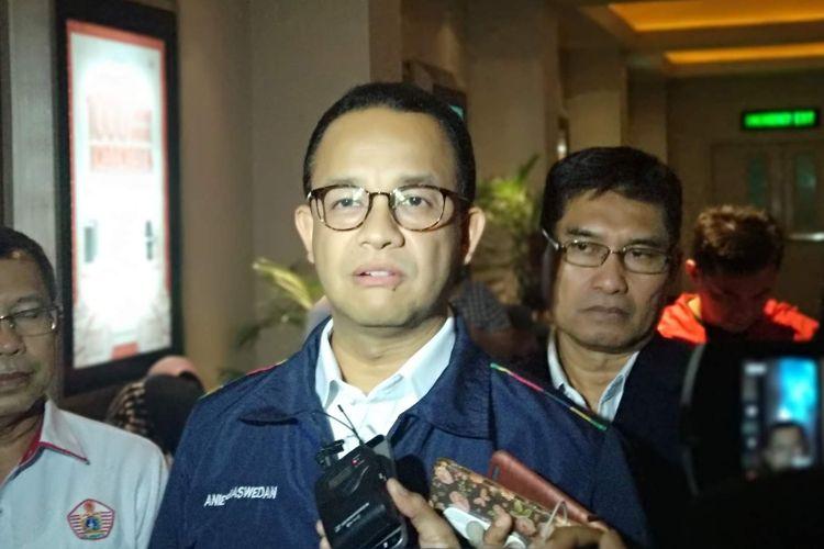 Gubernur DKI Jakarta Anies Baswedan di XXI Plaza Indonesia, Rabu (5/9/2018).