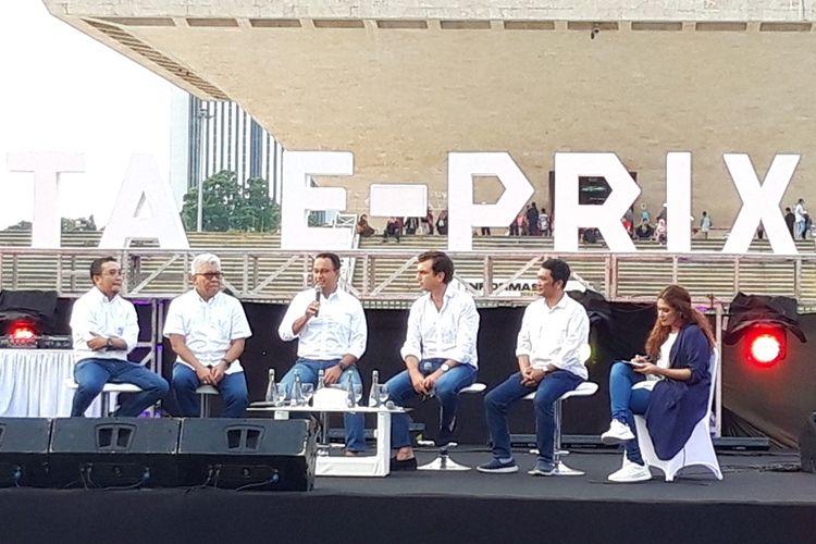 Konferensi pers Formula E 2020 di Monas, Jakarta pusat, Jumat (20/9/2019)