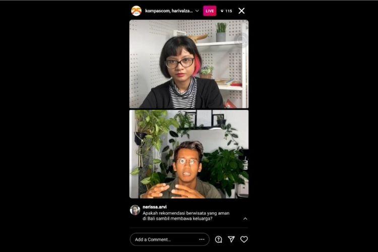 Festival Traveler Indonesia Episode 3: Wisata di Bali Saat Pandemi yang disiarkan langsung di Instagram Kompas.com, Rabu (11/11/2020).