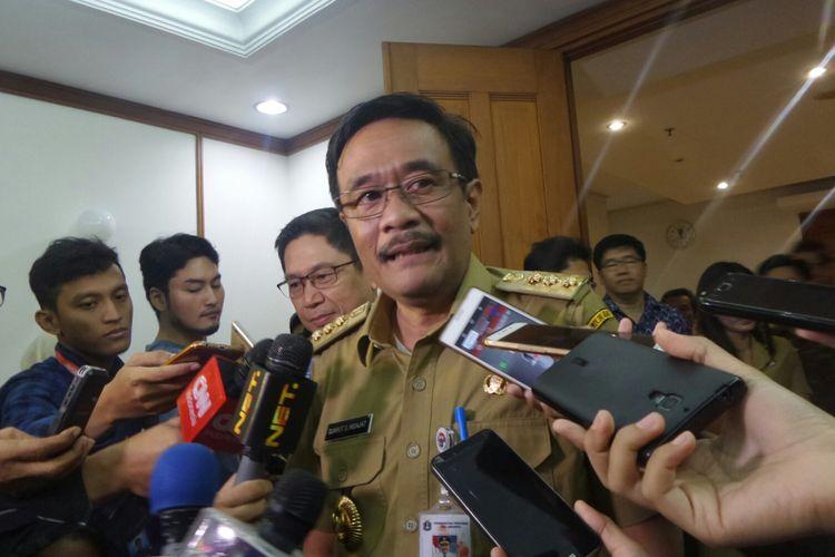 Gubernur DKI Jakarta Djarot Saiful Hidayat di Balai Kota DKI, Selasa (11/7/2017).