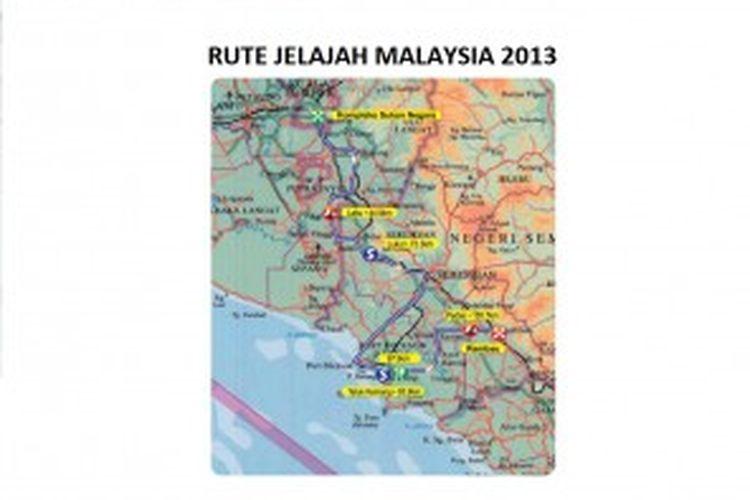 Rute Etape I Jelajah Malaysia 2013