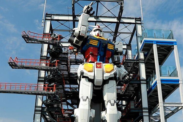 Tempat wisata di Jepang - Komplek Gundam Factory Yokohama di Jepang yang memiliki patung Gundam raksasa setinggi 18 meter.