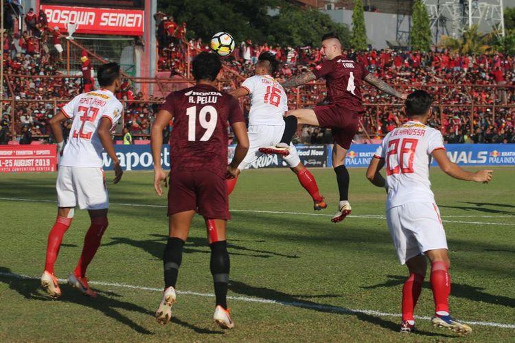 Pertandingan final Piala Indonesia 2019 mempertemukan PSM Makassar vs Persija Jakarta di Stadiom Mattoangin, 6 Agustus 2019.