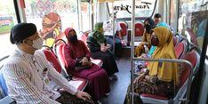 Naik BRT Trans Jateng Solo-Sragen, Pedagang Pasar di Solo Raya Terkesan