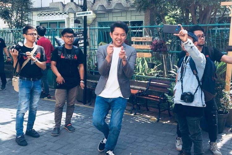 YouTuber Bayu Skak dalam sebuah acara di Kota Malang, Minggu (29/9/2019)
