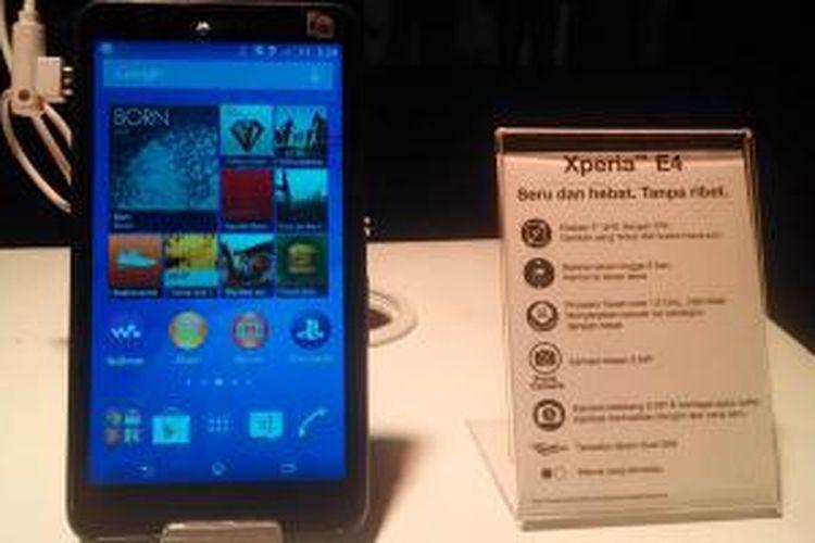 Smartphone Android Sony Xperia E4 resmi resmi dirilis di Indonesia pada Rabu, (11/3/2015).