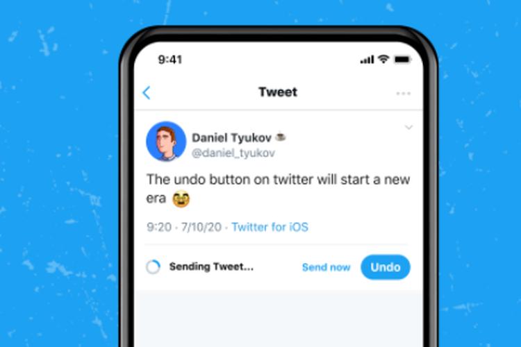 Fitur Undo Tweet yang tersedia pada layanan berlangganan Twitter Blue memungkinkan pengguna untuk menghapus twit sebelum diunggah di lini masa.