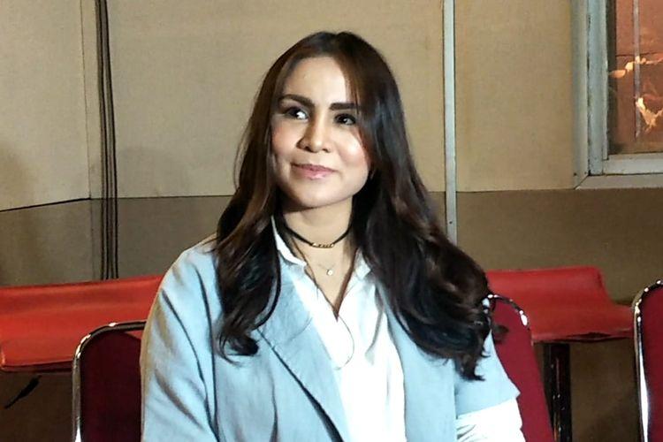 Momo Geisha saat ditemui usai melakukan proses rekaman di Musica Studios, Pancoran, Jakarta Selatan, Kamis (23/5/2019).