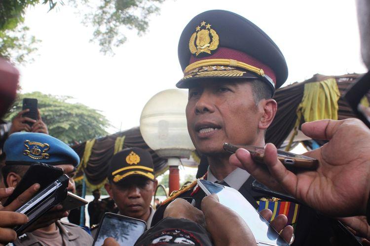 Kapolda Jawa Barat, Irjen Rudy Sufahriadi usai pemakaman Ipda Erwin di Cianjur, Jabar, Senin (26/8/2019).