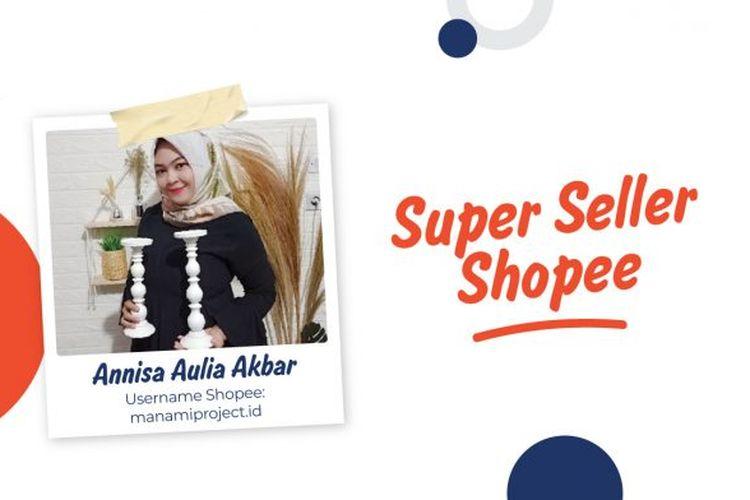 Salah satu penjual berstatus Star Seller di platform Shopee, Annisa Aulia Akbar.