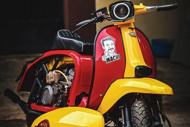 Lambretta dengan mesin Yamaha 2-tak 350 cc