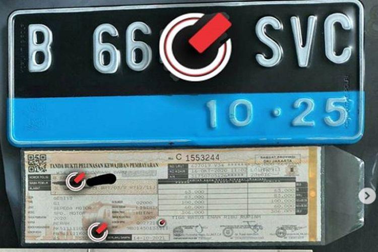 Pelat nomor kendaraan listrik resmi diberikan warna biru.