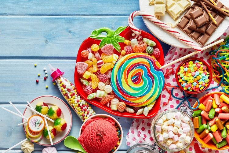 Berbagai jenis makanan dengan kalori kosong