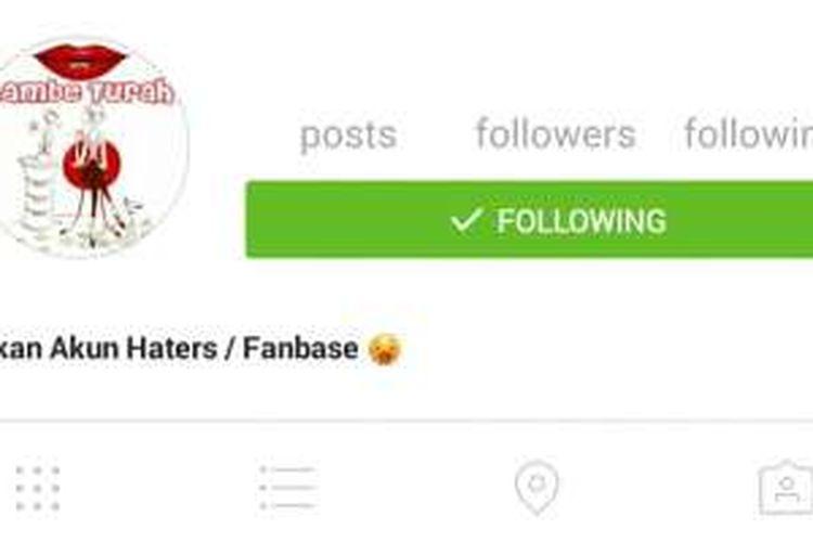 Akun Instagram milik Lambe Turah.