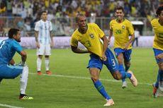 Brasil Vs Argentina, Gol Telat Miranda Antarkan Kemenangan Tim Samba
