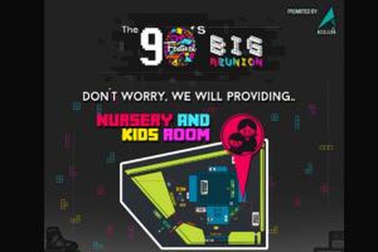 Promotor Accellera Entertainment menyiapkan ruang menyusui untuk pengunjung The 90s Festival 'BIG REUNION'.