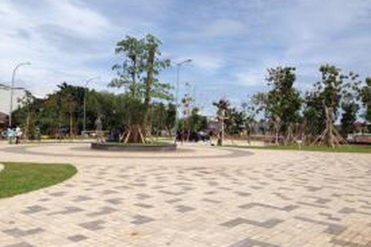 Taman Waduk Pluit di Penjaringan, Jakarta utara, menjadi tempat tujuan wisata baru bagi warga Jakarta.