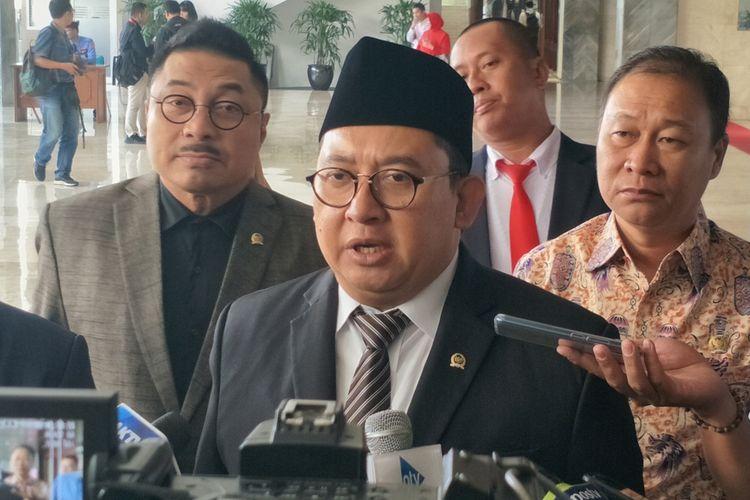 Wakil Ketua DPR Fadli Zon di Kompleks Parlemen, Senayan, Jakarta, Selasa (20/8/2019).