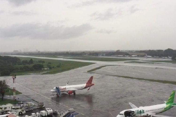 Bandara Halim Perdanakusuma, Rabu (1/1/2020)