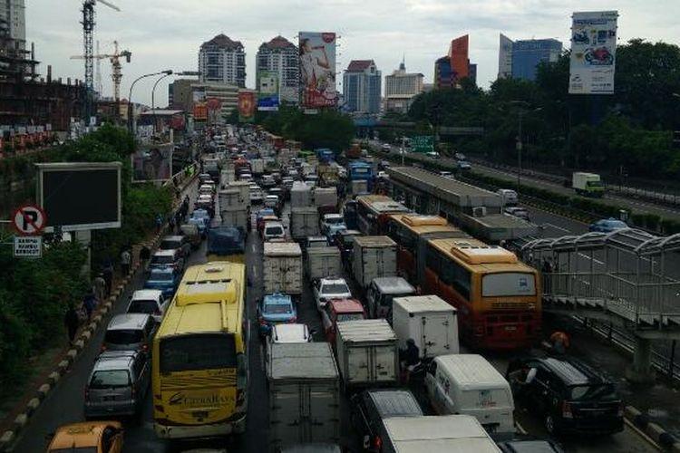 Ilustrasi kemacetan.