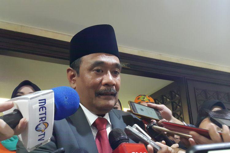 Gubernur DKI Jakarta Djarot Saiful Hidayat di Gedung DPRD DKI Jakarta, Jalan Kebon Sirih, Jakarta Pusat, Rabu (13/9/2017).