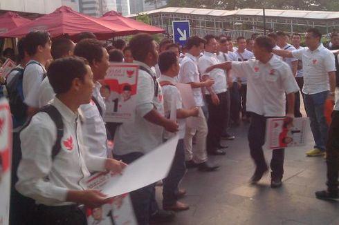 Pengunjung Plaza Semanggi Ikut Nikmati Kehebohan Debat Capres