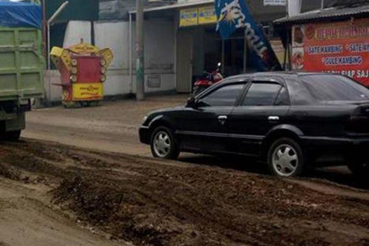 Kondisi terkini wisata Jeglongan Sewu yang ada di Jalan Raya Manyar, Gresik.