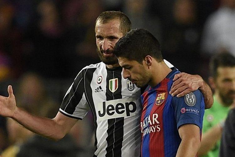 Giorgio Chiellini dan Luis Suarez.