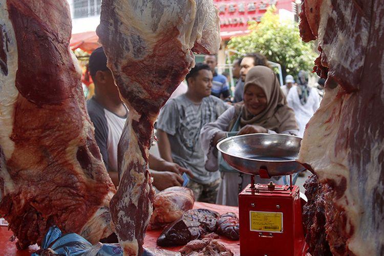 Ilustrasi pasar daging di tengah wabah antraks yang terjadi di Kabupaten Gunungkidul