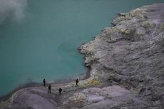 Dentuman di Kawah Gunung Ijen, Ada Gelombang Mirip Tsunami Setinggi 3 Meter, Satu Penambang Tewas