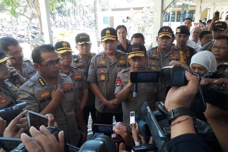 Kapolri Tito Karnavian di RS Bhanyangkara Polda Jatim, Senin (19/8/2019)