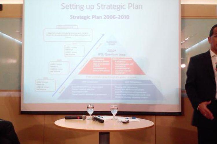 Emirsyah Satar, mantan CEO Garuda Indonesia, saat menjadi pembicara acara