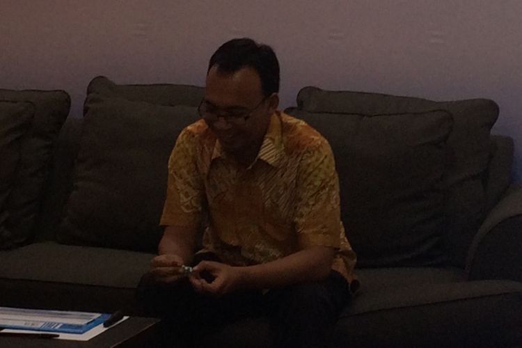 Peneliti Senior Saifuo Mujani Research and Consulting  (SMRC), Deni Irfani di Jakarta, Rabu (12/4/2017).