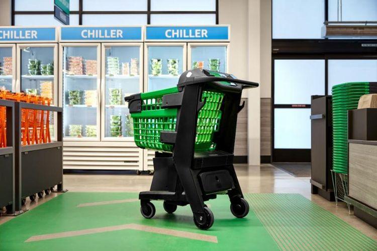 Troli pintar Amazon Dash Cart.