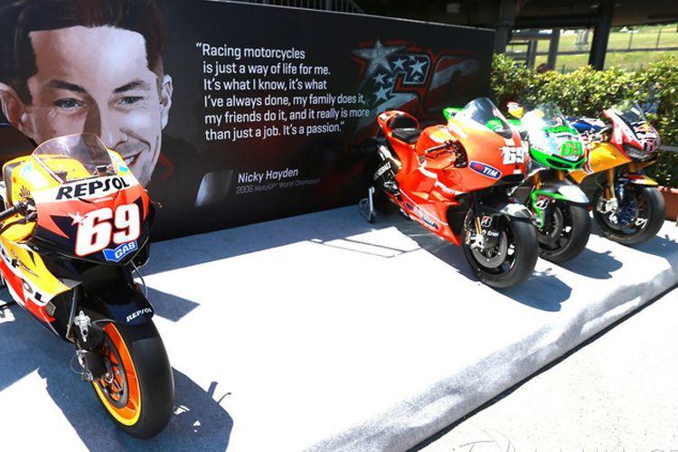 Empat motor Nicky Hayden di Mugello