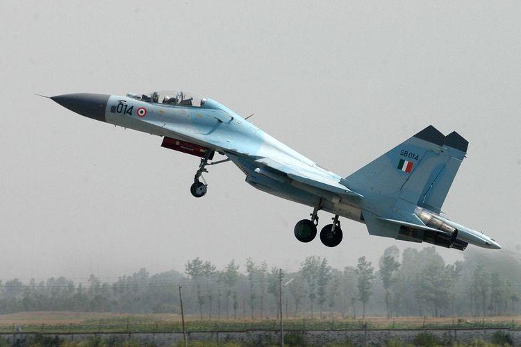 Jet tempur Sukhoi Su-30 milik Angkatan Udara India (IAF).