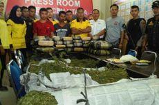 Bawa 45 Paket Ganja, Dua Orang Ditangkap di Depan Mapolres