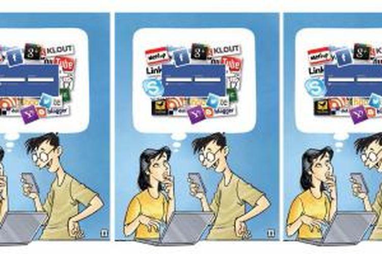 Ilustrasi Media Sosial.