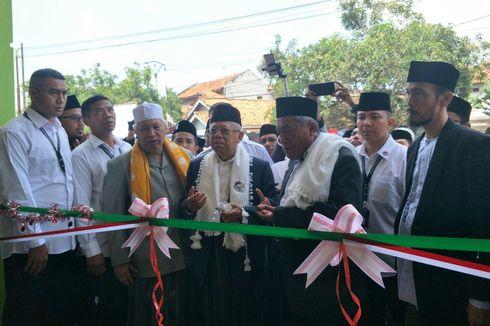 Di Serang, Ma'ruf Amin Resmikan Sekolah Al-Quran di Pondok Pesantren