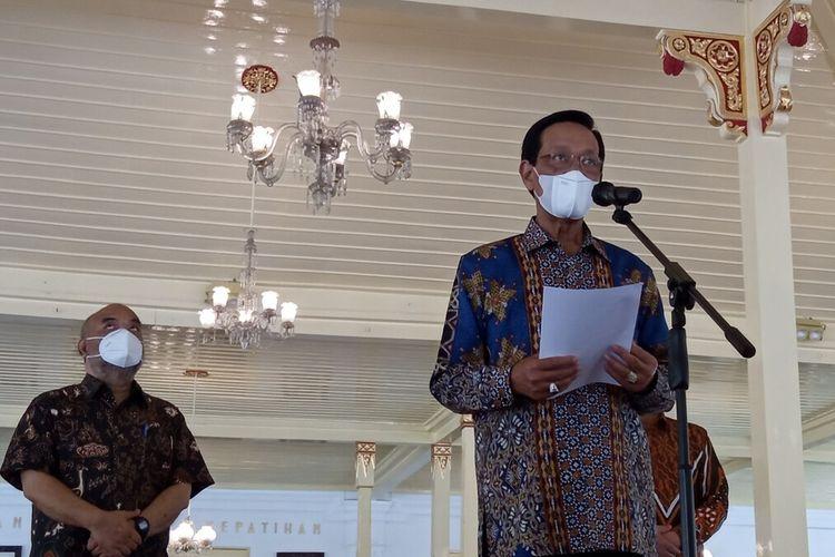 Sultan sampaikan sapa aruh di Bangsal Kepatihan Kompleks Kepatihan, Selasa (22/6/2021)
