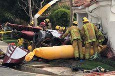 Helikopter Jatuh di Perumahan, Tiga Orang Tewas
