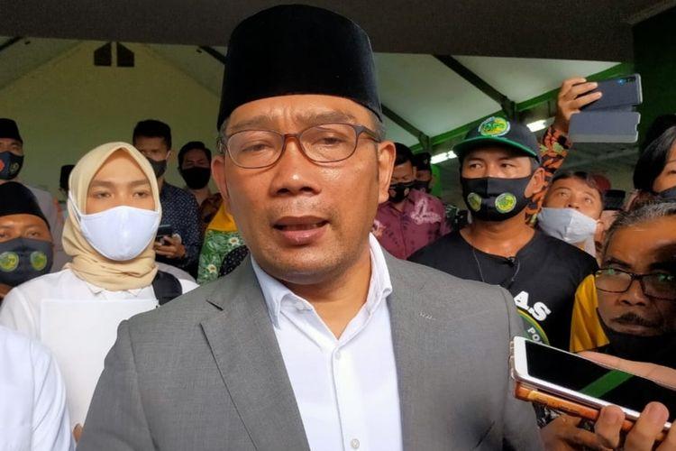 Gubernur Jabar Ridwan Kamil, di Ponpes Suryalaya, Tasikmalaya, Sabtu (5/9/2020).