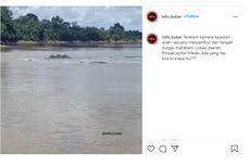 Viral, Video Sesuatu Menyembur dari Tengah Sungai Mahakam, Ini Penjelasan BPDAS