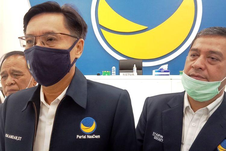 Ketua DPW Partai NasDem Sumut Iskandar ST mengatakan, partainya sedang menyusun struktur kepengurusan baru. Beberapa tokoh ikut bergabung seperti HT Milwan, JR Saragih dan Abdillah, Rabu (7/4/2021)