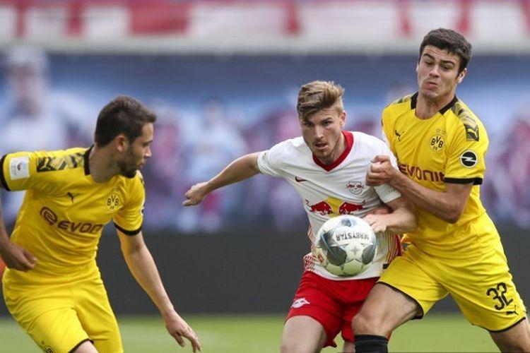 Laga RB Leipzig vs Borussia Dortmund, Sabtu (20/6/2020) malam WIB.