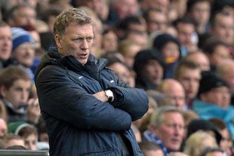 David Moyes kala masih melatih Everton sejak musim 2001/2002 hingga 2012/2013