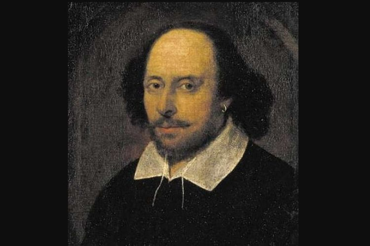 Lukisan wajah William Shakespeare karya John Taylor pada 1610.