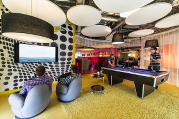 Suasana di Kantor Google di Dublin.