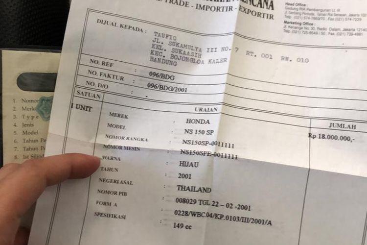 Honda NSR 150 SP tembus di atas Rp 20o jutaan