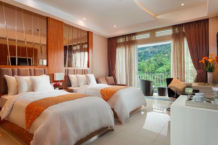 Hotel di Cianjur - Salah satu kamar di penginapan Le Eminence Puncak Hotel Convention & Resort, Kabupaten Cianjur, Jawa Barat.